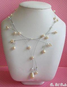 Collier mariage perles et cristal AFPC097