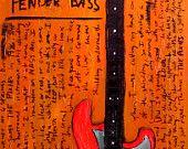 Krist Novoselic bass guitar art print