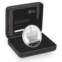 Royal Mint: The Longest Reigning Monarch 2015 UK £5 Silver Proof Coin