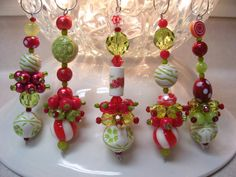 holly jolly christmas dangle ornaments