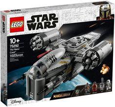 Cool, buildable Star Wars: The Mandalorian The Razor Crest starship! Star Wars Boba Fett, Star Wars Clone Wars, Star Trek, Boite Lego Star Wars, Lego Mandalorian, Chasseur De Primes, Figurine Lego, Cuadros Star Wars, Construction Lego