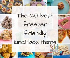 Need freezer friendly lunchbox items? Here's 20 of the best freezer friendly lunchbox items you'll f Lunch Box Recipes, Lunch Snacks, Baby Food Recipes, Easy Recipes, Lunch Meals, Family Recipes, Healthy Recipes, Freezer Cooking, Freezer Meals