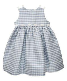 Love this Light Blue Gingham Silk Sundress - Infant, Toddler & Girls on #zulily! #zulilyfinds