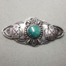 Very Old Native American Sterling and Turquoise Pin Eagles  $65.00  http://www.rubylane.com/item/506482-100-7694/Very-Native-American-Sterling-Turquoise  #Rubylane #Cobayley