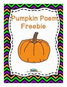 FREE Pumpkin Poem from SOL Train Learning #soltrainlearning#FALL#FREEBIE#poem Grab this FREE pumpkin poem, and see some fun Fall ideas,