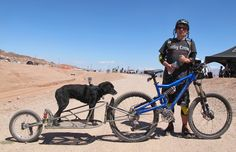 One time trail builder here at Boulder City, Erik Norland and his furry pal Kaya were ripping up laps together of the trail network they once helped build. Erik hails from Las Vegas, Nevada, but was here with friends from Advanced Cyclery out of Syracuse, New York. Check You Tube for the two in action.