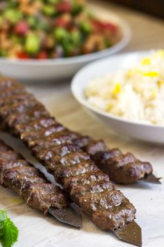 Grilled Ground Meat On Skewers With Middle Eastern Spices Recipe ...