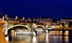 Margareth Bridge in night - Budapest, Hungary