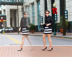 from date night out to casual friday, striped skirt two ways, sheinside skirt, vin del pumps, textured blazer, street style, ladylike, fashi...... - Total Street Style Looks And Fashion Outfit Ideas