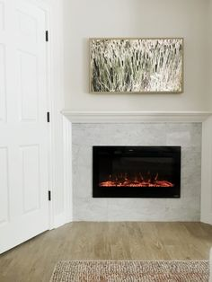 Tv Above Fireplace, Wooden Fireplace, Bedroom Fireplace, Home Fireplace, Fireplace Design, Fireplace Mantels, Mantle, Fireplace Modern, Home Bedroom