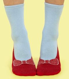 Dorothy Ruby Slipper Socks! So fun!