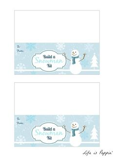 fff4440b8 Build a Snowman Kit + FREE Printable