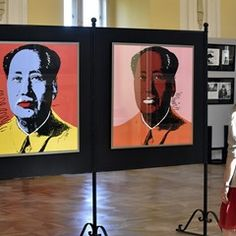 Exhibition of works by Andy Warhol in Holeov, Czech Republic