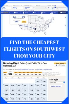 Easy tools to find those $49 or less flights Southwest advertises during their sales from any city!