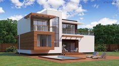 Строительство домов S21 в Екатеринбурге   Ультра Эс Small House Design, Modern House Design, Plans Architecture, Sims Building, Prairie Style Houses, Small Modern Home, Home Projects, Home Goods, House Plans