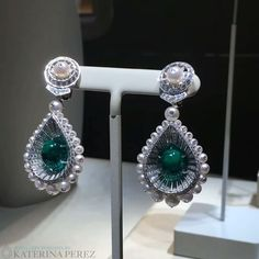 Brand new #earrings with Colombian #emeralds, #diamonds and #pearls from the…