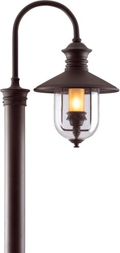 View the Troy Lighting P9364 Old Town 1 Light Post Light with Seedy Glass at LightingDirect.com.