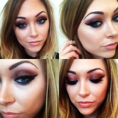 Copper smokey eye! <3  #makeup #makeupartist #motd #copper #smokeyeye #nudelip