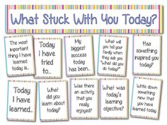 What Stuck With You Today? A simple display that you could tie in with your…