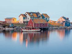 wanderlust nature Peggys Cove in Nova Scotia: 10 Stunning Shots From a Once-in-a-Lifetime Cross-Canada Trek Watercolor Landscape, Landscape Paintings, Landscapes, Canadian Travel, Beaux Villages, Fishing Villages, Nova Scotia, Belle Photo, Toronto Photographers