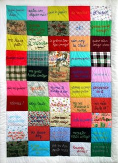 "Ana Teresa Barboza ""Tus palabras son lo unico que tengo en nuestro amor distancia"" (""Your Words Are the Only Thing That I Have In Our Distant Love"") 2006 Patchwork anateresabarboza.blogspot.com"