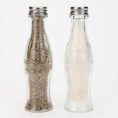 coca-cola  //  salt + pepper shakers