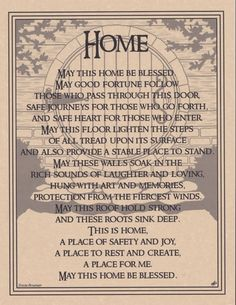 HOUSE BLESSING Parchment Page for Book of Shadows, Altar!