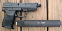 HK45c with SWR.. I like to walk softly and not bother anyone I don't have to.