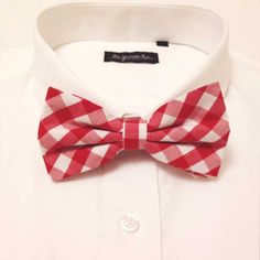Red Check Bow Tie via The Grunion Run!