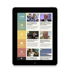 Dribbble - News app design by Kasper Andersen