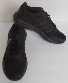 0b95b1b1d6f Mens Adidas NEO Cloudfoam Race Black Sneaker Athletic Sport Shoes B74372  10-13