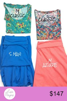 2 shirts, 2 skirts m