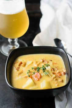 Belgian Beer Conch Chowder is an easy soup with fresh conch and vegetables, a floral Belgian beer, heavy cream, and slowly simmered to a creamy perfection. Hearty Soup Recipes, Chowder Recipes, Vegetarian Recipes, Belgian Food, Belgian Beer, Belgian Recipes, Shellfish Recipes, Seafood Recipes, Conch Chowder