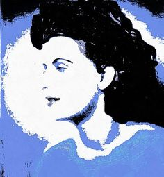 Blue - Abstract Woman by Caterina Christakos Snow White, Disney Characters, Canvas Prints, Blue Abstract, Retro Art, Art, Abstract, Vintage, Prints