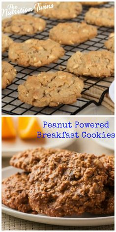 Peanut Powered Breakfast Cookies   Perfect, Healthy Cookie when You Crave Cookies at Breakfast!   from @peanutfarmers #client