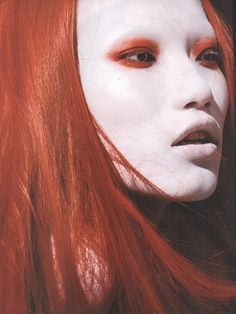 red hair #fashion #makeup #red