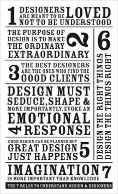 7 rules to understand design and designers