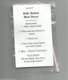NEW Belly Button Blow Dryer Novelty Gag Gift Prank #homemade #AllOccasionEveryday