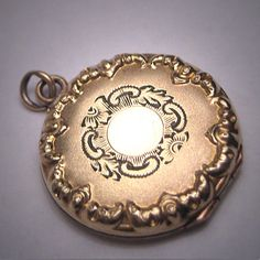 Antique Gold Locket Pendant Necklace by AawsombleiJewelry on Etsy