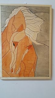 woodarsia: Graceful horse. |W36.5cm H36.5cm
