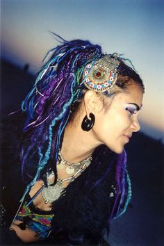 Dreadlocks ~ love the blues and purples Dreadlocks, Sisterlocks, Braids, and More @dreadlstop :: Love Your Locs at DreadStop.Com +dreadstop