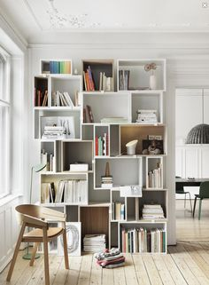 This bookcase is on order for my room. From Muuto.