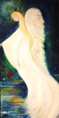 'Water Angel'  oil on canvas original version by Amanda Wright