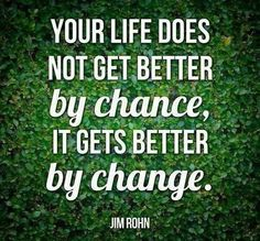 """""""If you want things in your life to change, you are going to have to change things in your life.""""   ~ Kevin Trudeau"""