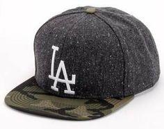 LA Dodgers American Needle Limited Edition Powder Charcoal & Camo Snapback Cap American