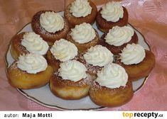 Bavorské masopustní koblížky recept - TopRecepty.cz Cheesecake, Muffin, Baking, Breakfast, Bread Making, Morning Coffee, Muffins, Patisserie, Cheesecakes