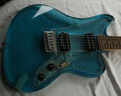 Music Aesthetic, Aesthetic Vintage, Blue Aesthetic, Cool Electric Guitars, Unique Guitars, Learn To Play Guitar, Cigar Box Guitar, Beautiful Guitars, Guitar Design