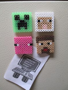 Minecraft Magnets - Set of 4 - $10.00
