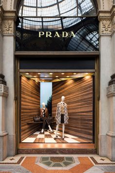 "Italian designer Martino Gamper has teamed up with Prada to create display space to pay ""homage to the humble corner"" in the Milanese windows of fashion house."