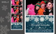 5HOL-2  Match your wintery holiday theme with this elegant graphic. #photobooth  imagecinema.com